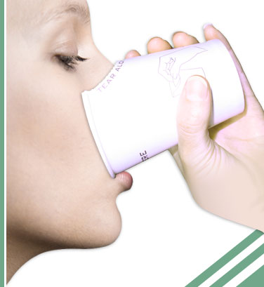 woman drinking out of Dual Cup